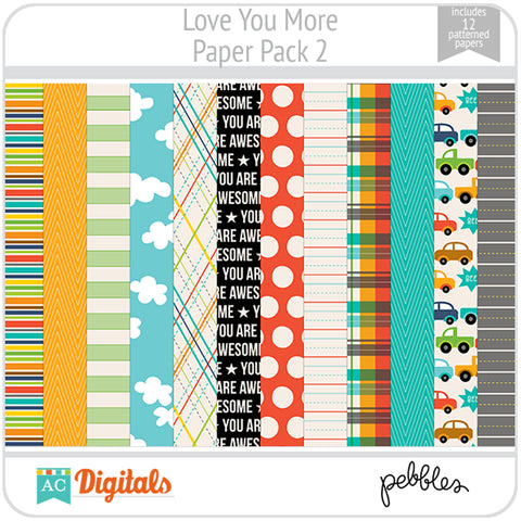 Love You More Paper Pack 2