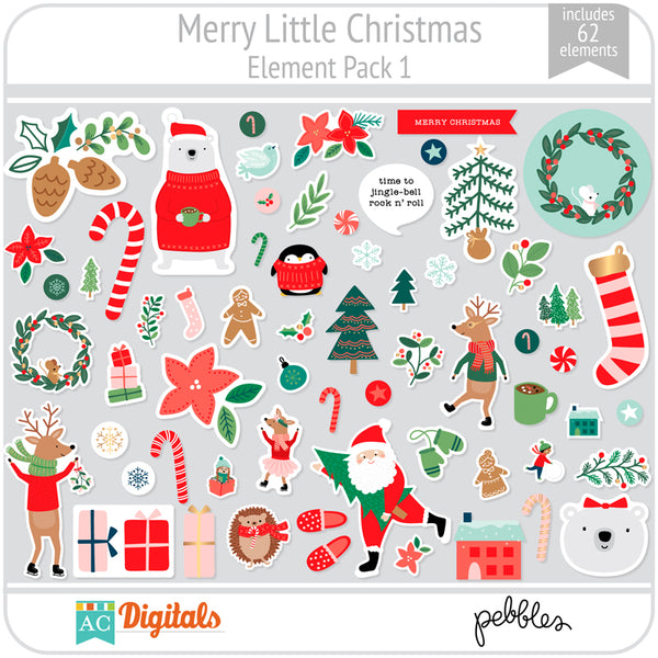 Merry Little Christmas Element Pack 1
