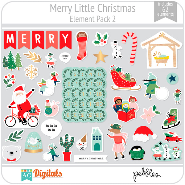 Merry Little Christmas Element Pack 2