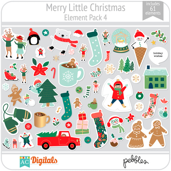 Merry Little Christmas Element Pack 4