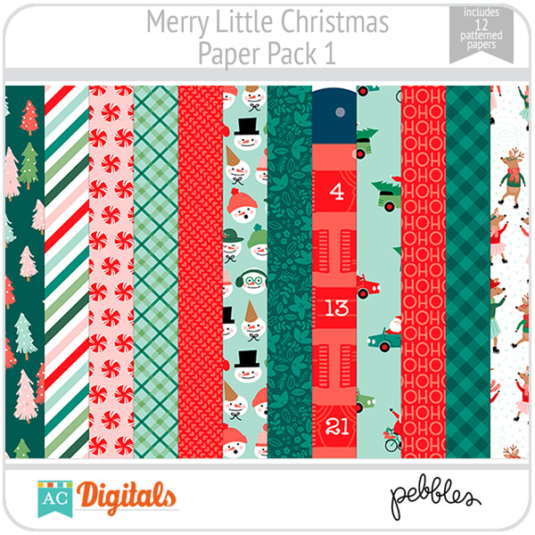 Merry Little Christmas Paper Pack 1