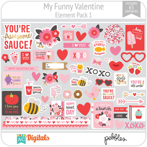 My Funny Valentine Element Pack 1