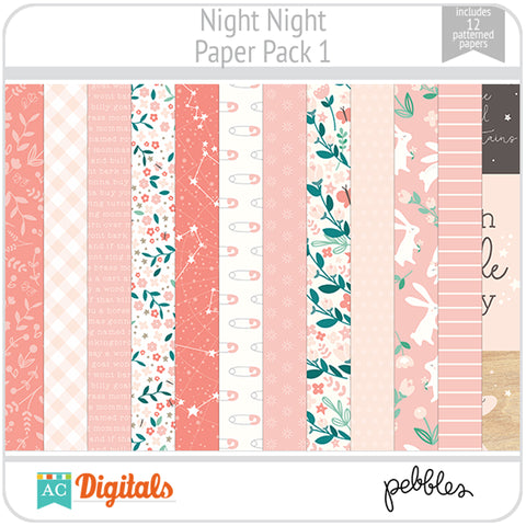 Night Night Paper Pack 1