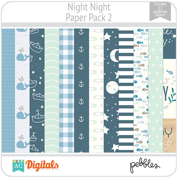 Night Night Paper Pack 2