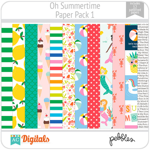 Oh Summertime Paper Pack 1