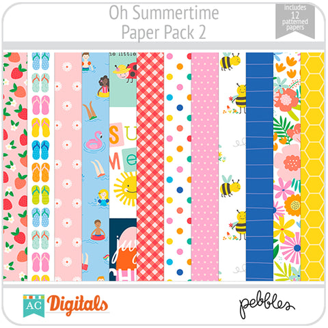 Oh Summertime Paper Pack 2