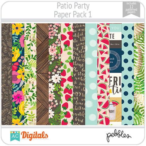 Patio Party Paper Pack 1