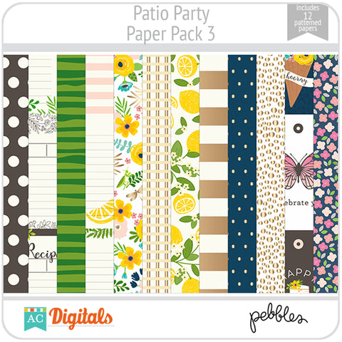 Patio Party Paper Pack 3