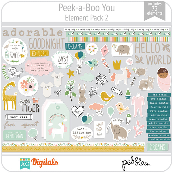 Peek-a-Boo You Element Pack 2