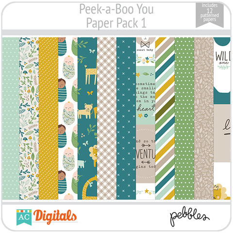 Peek-a-Boo You Paper Pack 1