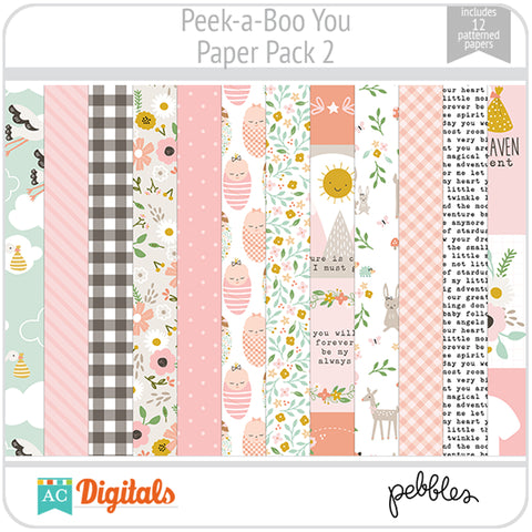 Peek-a-Boo You Paper Pack 2
