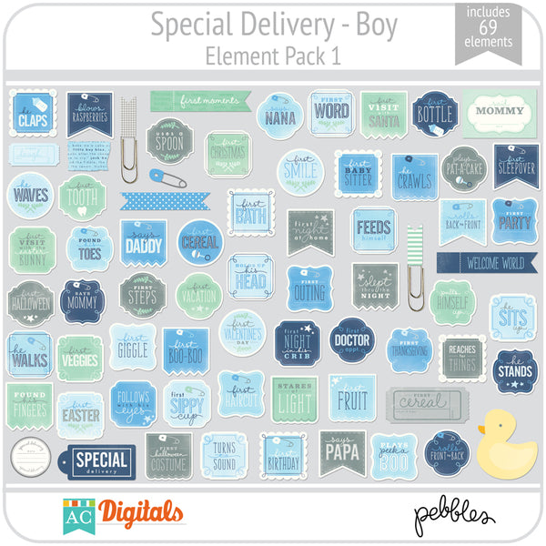 Special Delivery - Boy Element Pack 1