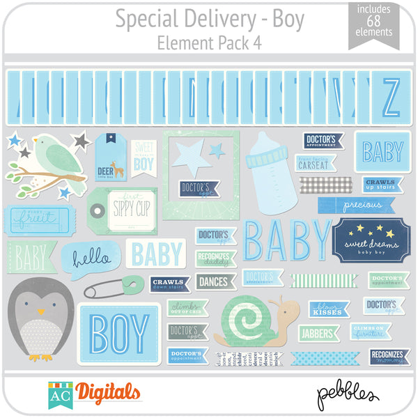 Special Delivery - Boy Element Pack 4