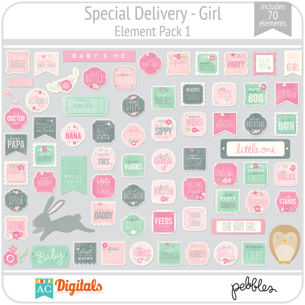 Special Delivery - Girl Element Pack 1