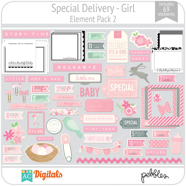 Special Delivery - Girl Element Pack 2