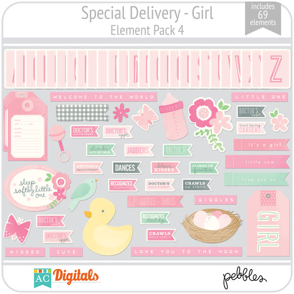 Special Delivery - Girl Element Pack 4
