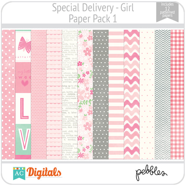 Special Delivery - Girl Paper Pack 1