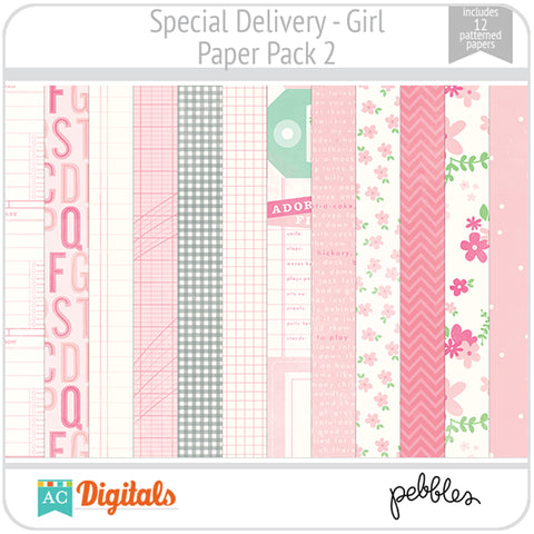 Special Delivery - Girl Paper Pack 2