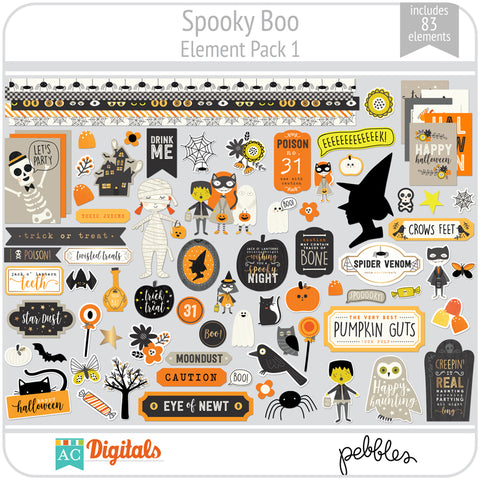 Spooky Boo Element Pack 1