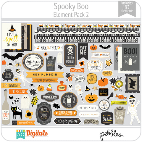 Spooky Boo Element Pack 2