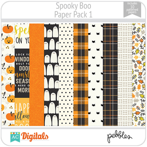 Spooky Boo Paper Pack 1