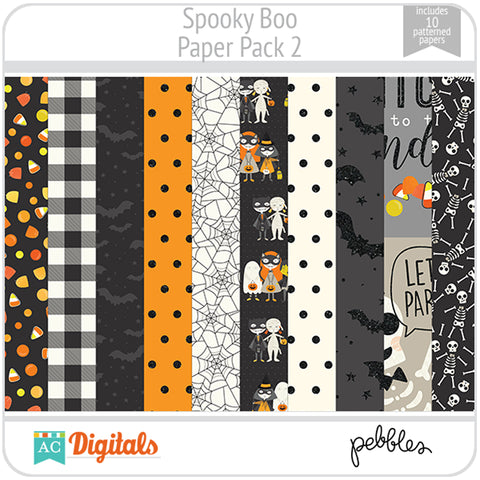 Spooky Boo Paper Pack 2