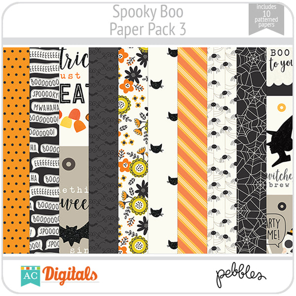Spooky Boo Paper Pack 3