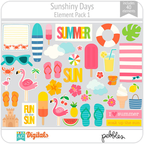 Sunshiny Days Element Pack 1