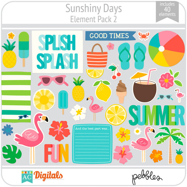 Sunshiny Days Element Pack 2