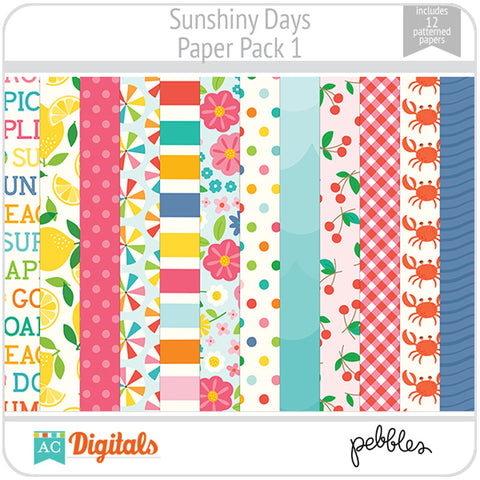 Sunshiny Days Paper Pack 1