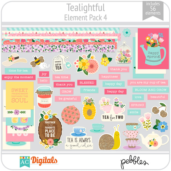 Tealightful Element Pack 4