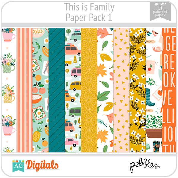 This is Family Paper Pack 1