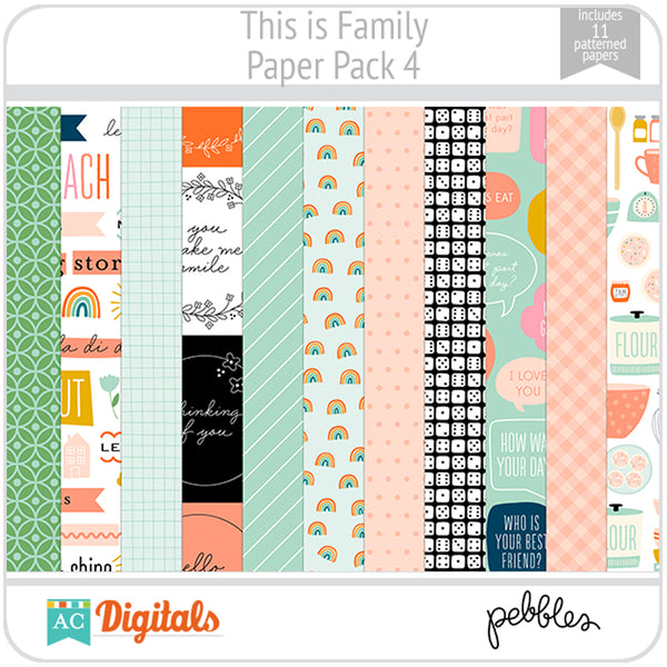 This is Family Paper Pack 4