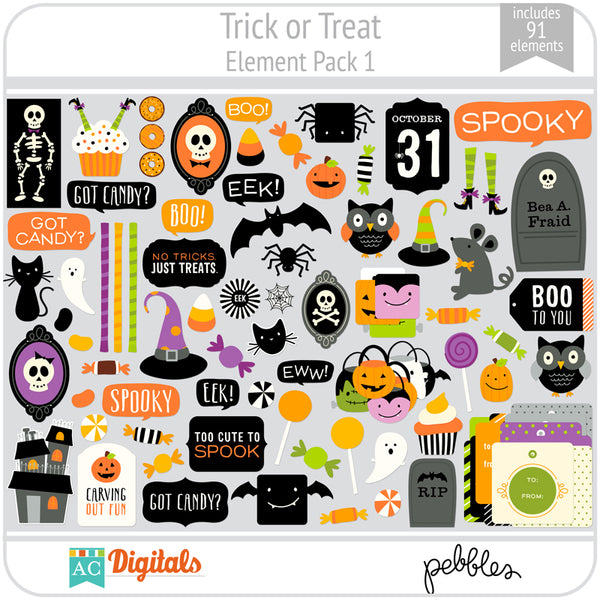 Trick or Treat Element Pack 1