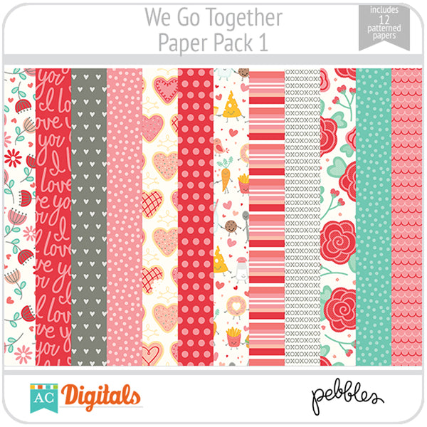We Go Together Paper Pack 1