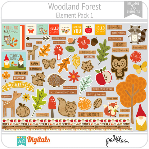 Woodland Forest Element Pack 1