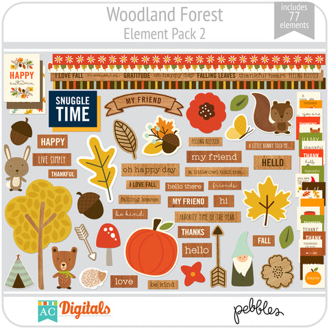 Woodland Forest Element Pack 2