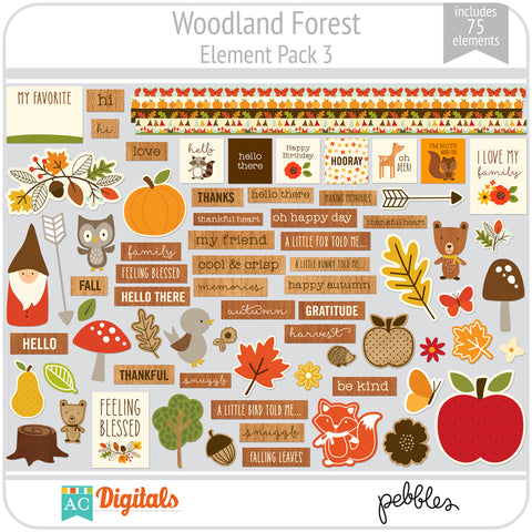 Woodland Forest Element Pack 3