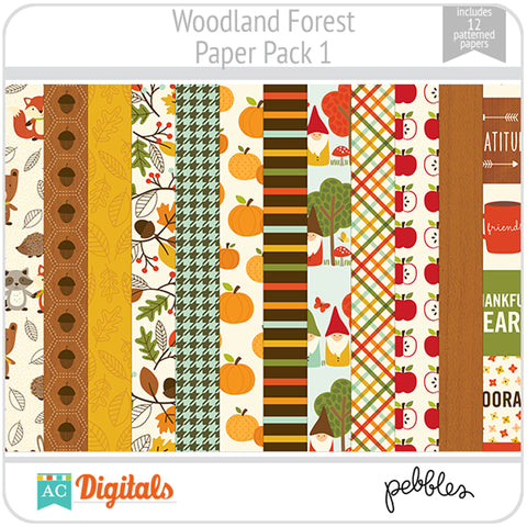 Woodland Forest Paper Pack 1
