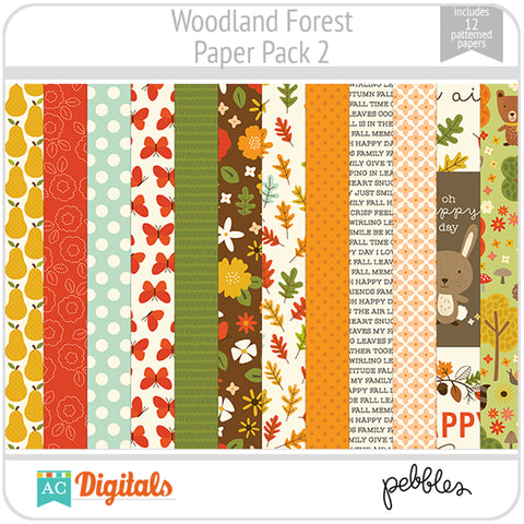 Woodland Forest Paper Pack 2