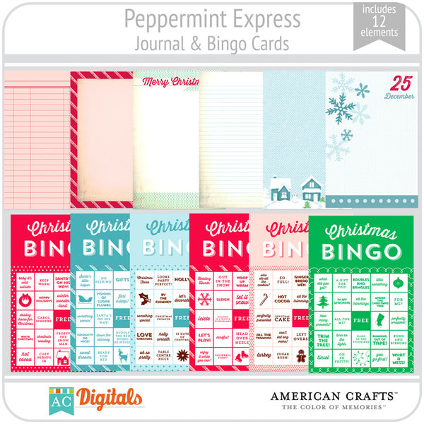Peppermint Express Journaling & Bingo Cards