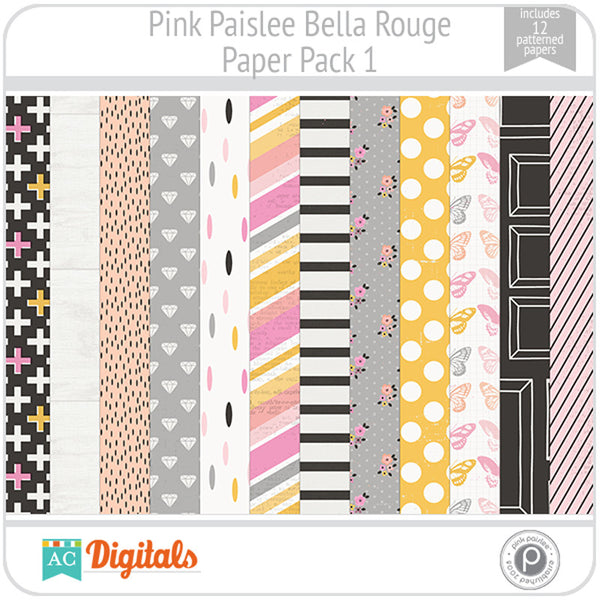 Bella Rouge Paper Pack 1