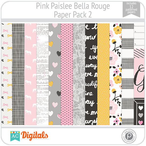 Bella Rouge Paper Pack 2