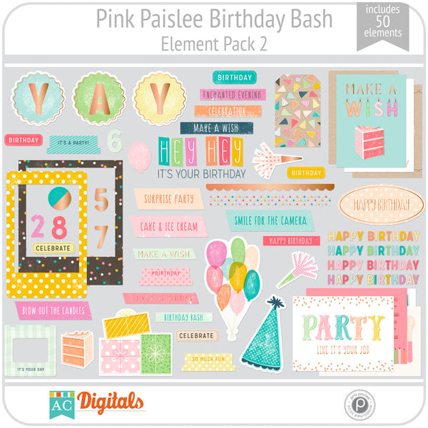 Birthday Bash Element Pack 2