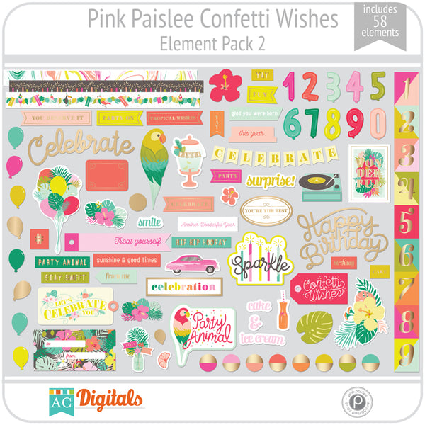 Confetti Wishes Element Pack 2