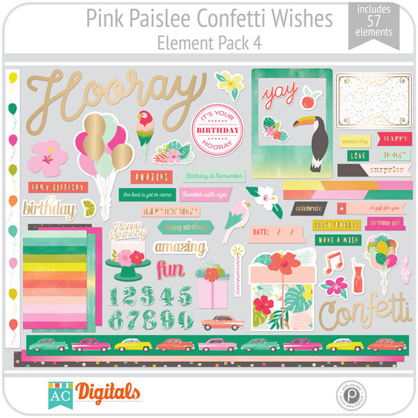 Confetti Wishes Element Pack 4