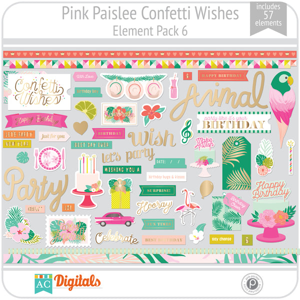 Confetti Wishes Element Pack 6