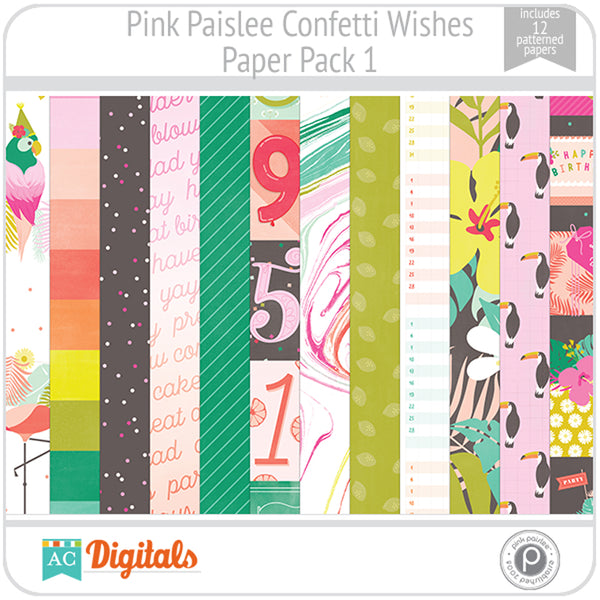 Confetti Wishes Paper Pack 1