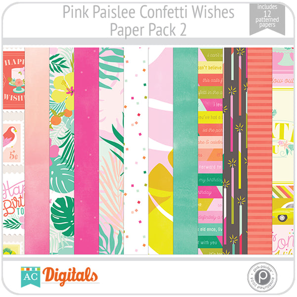 Confetti Wishes Paper Pack 2
