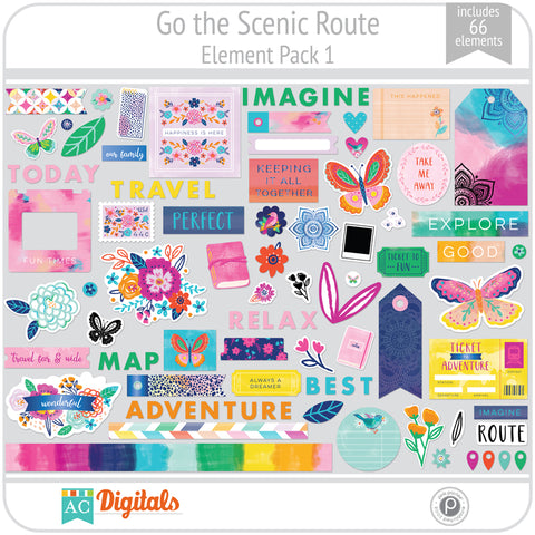 Go the Scenic Route Element Pack 1